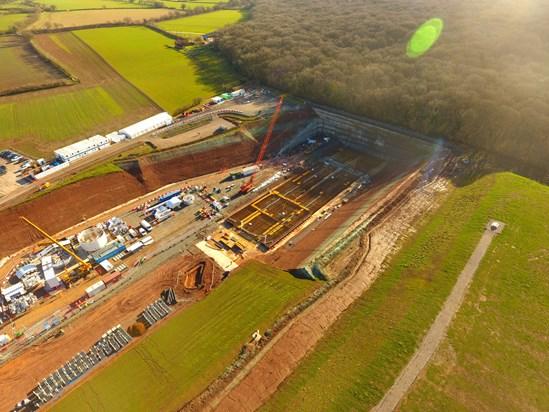 Long Itchington Wood Tunnel north portal site Feb 2021: Credit: HS2 Ltd