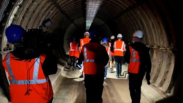 Huge demand for Birmingham New Street forgotten tunnel tour: Birmingham New Street Tunnel Tour shot