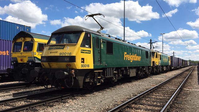 West Midlands and Chilterns areas keep vital freight moving during coronavirus crisis: Freight trains in a railway sidings
