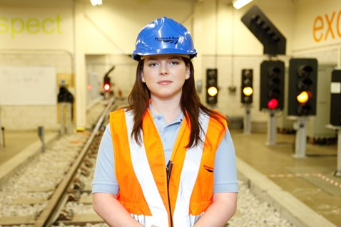 Samantha Fawcett Network Rail signalling apprentice Sheffield
