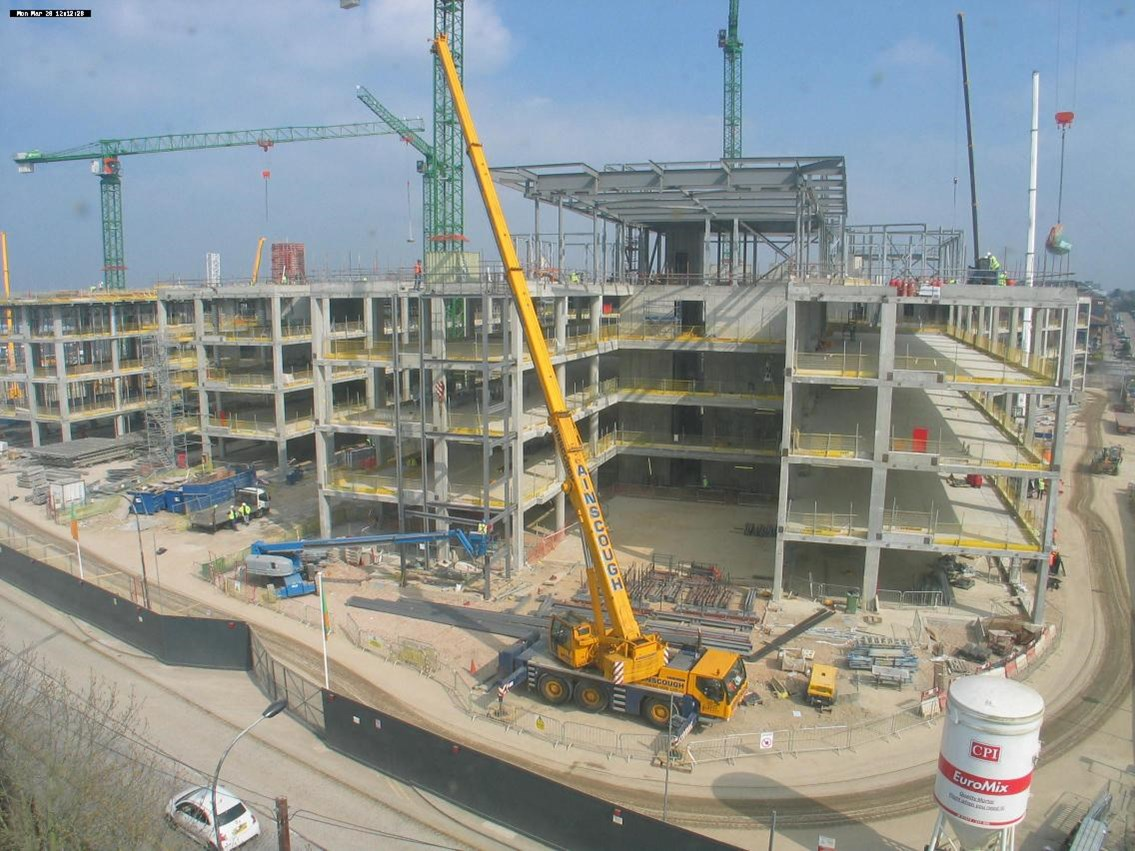 March 2011: March 2011 - the main structures are largeky complete, ready for cladding and glazing to begin
