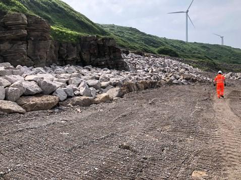 Sea defence work in Parton-2