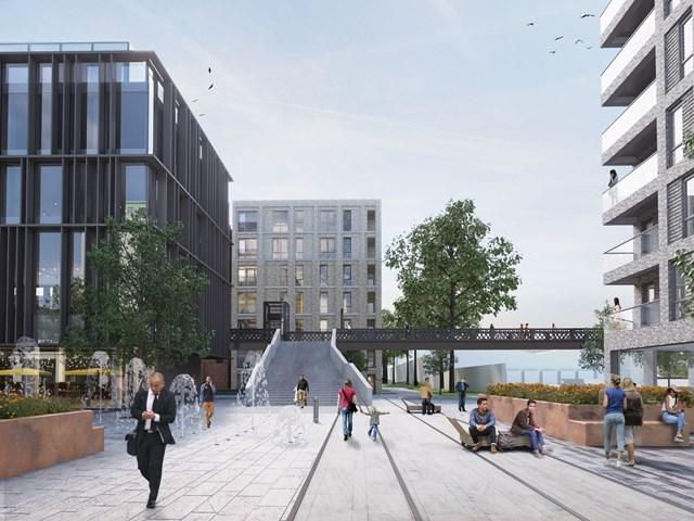 Artist impression of footbridge at Welwyn Garden City station