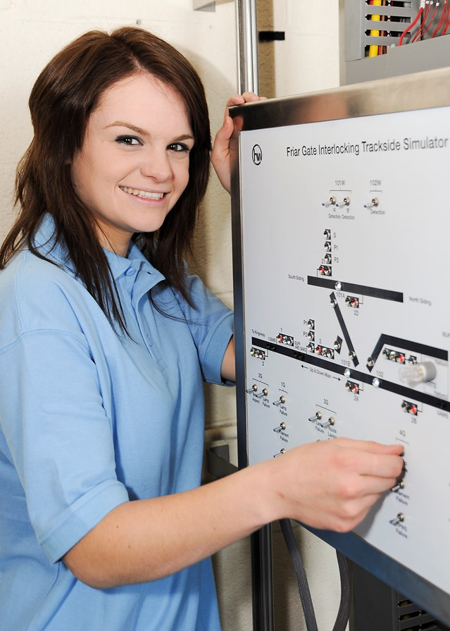 RAIL APPRENTICES GET ON TRACK TO WORK IN SOUTH WEST: Emma Taylor