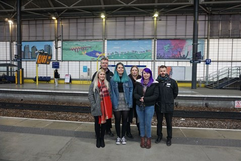 Network Rail brightens up Leeds station with vibrant new art work-2