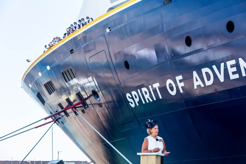 New Saga Ship, Spirit Of Adventure, Named Today In Ceremony In Portsmouth (July 2021)