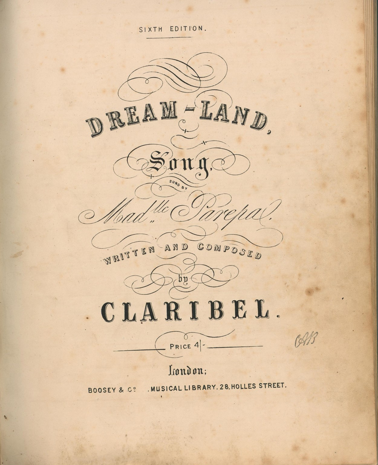 Claribel - Dream Land c.1853