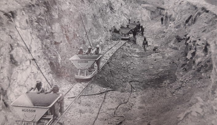 Leeds Industrial Museum: Leeds firm Hudson's Rugga wagons in use in a quarry