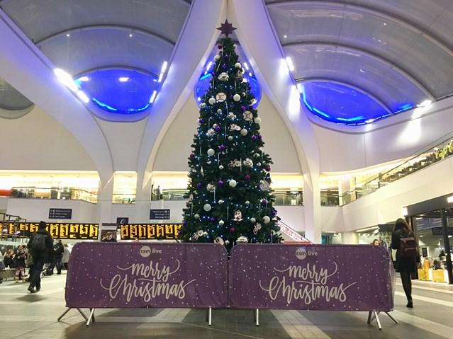 Birmingham New Street to host Christmas Eve dinner for 200 homeless people: Birmingham New Street during Christmas 2018