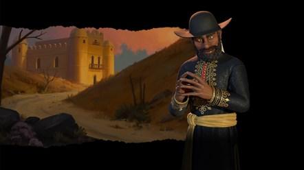 Civilization VI - New Frontier Pass - Menelik II Leader Art