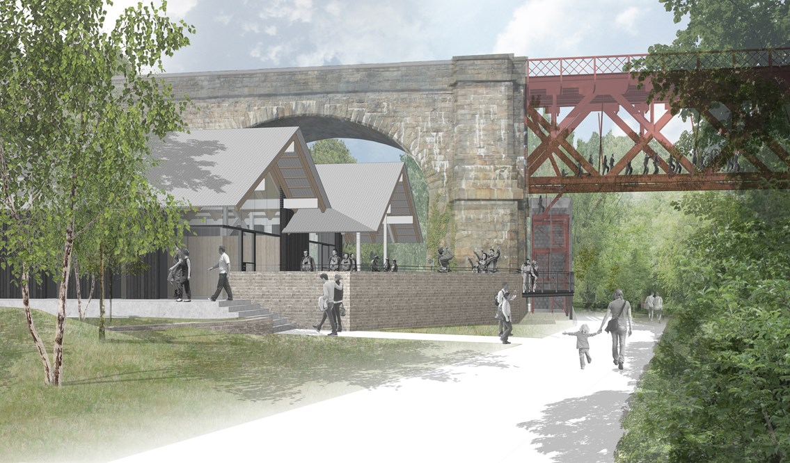 Revised proposals for Forth Bridge Experience: 150 WTA 21 SQ Views Ascent small