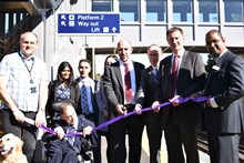 The project was officially opened by Stuart Kistruck, route managing director of Network Rail's Wessex route, Jeremy Hunt MP, Cllr Andrew Bolton, local campaigners Andrew Crawte and John Welsman and members of Network Rail and South West Trains