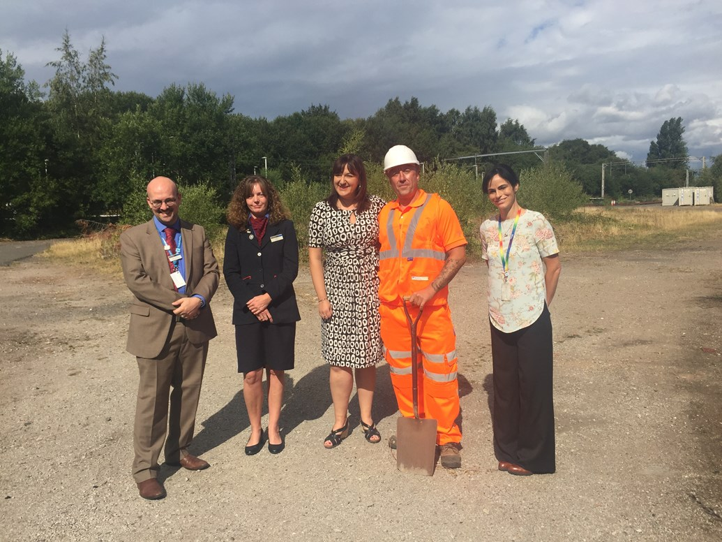Ruth Smeeth MP welcomes scheme to improve access at Kidsgrove station: Ruth Smeeth MP and representatives from Network Rail and East Midlands Trains