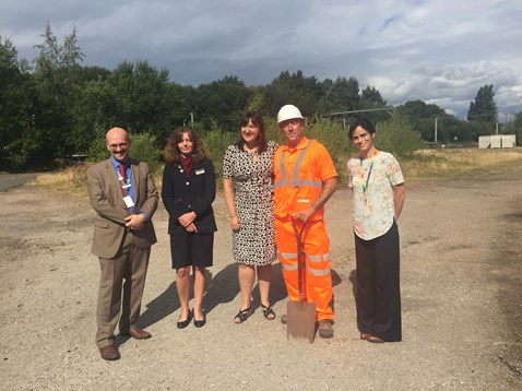 Ruth Smeeth MP and representatives from Network Rail and East Midlands Trains