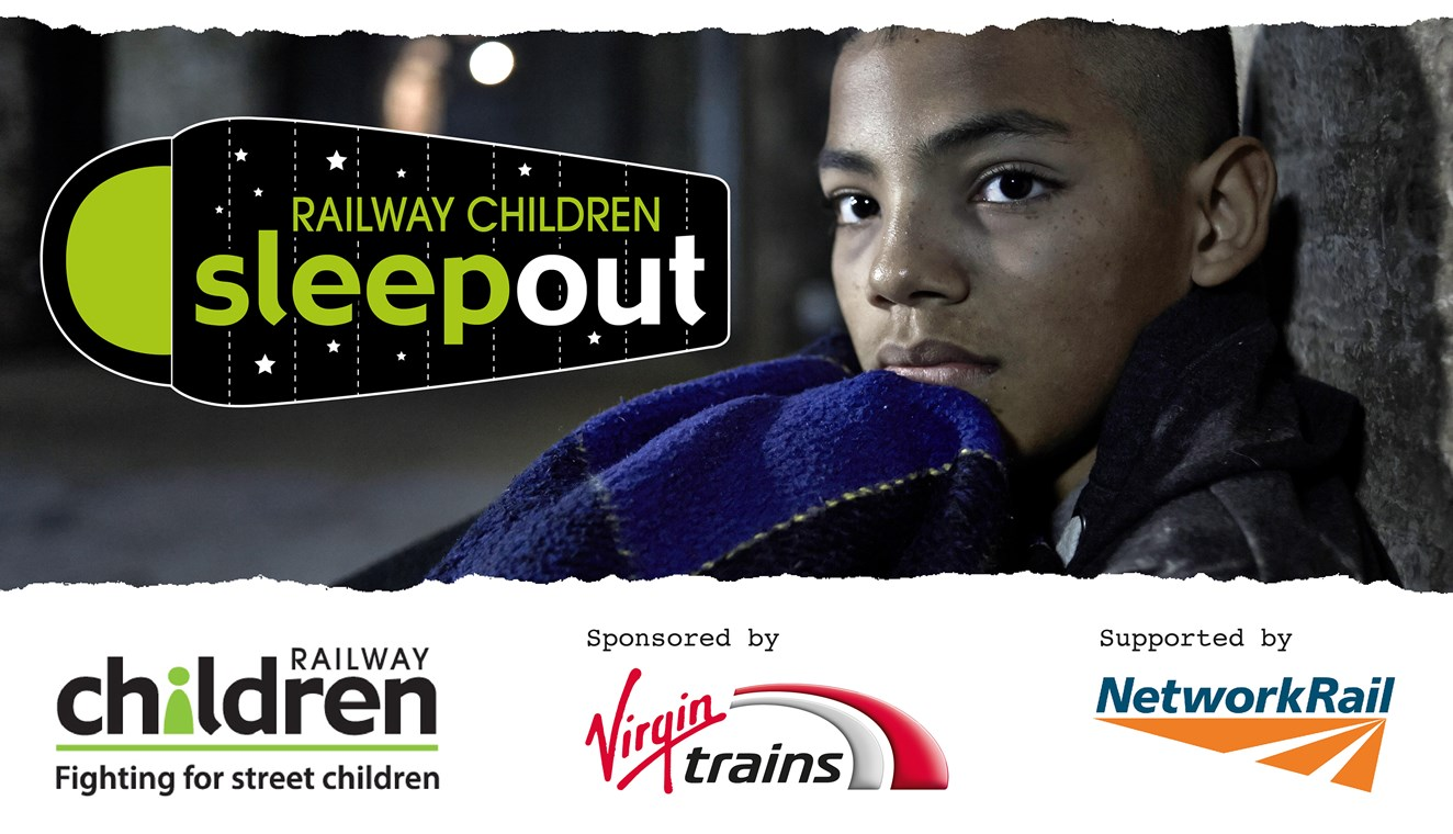 Nationwide sleepout to raise plight of thousands of runaway children: Railway Children Sleepout Logo header