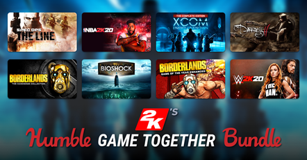 2K Humble Bundle Game Together Art
