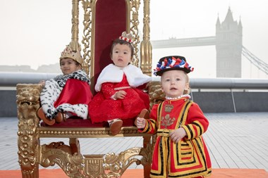 London's mini 'infantry': London babies welcome the royal baby in true regal fashion: London Babies 1