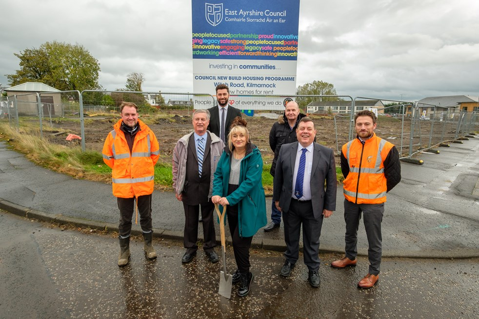 Ground breaking at site of new housing at Witch Road