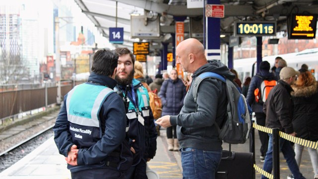 New team tasked to tackle crowding on Piccadilly platforms 13 and 14: One team Piccadilly platform 14 16x9