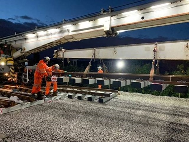 """Over £1.8 billion spent across the south on improvements with passengers returning to the railway more than 18 months after the first lockdown, Network Rail's Sussex route says """"welcome back"""": Track renewal at Balham"""