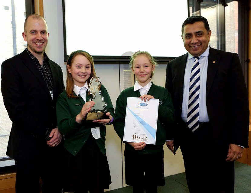 Rawdon Littlemoor is national travel to school champion: rawdonlittlemoormodeshiftstars.jpg