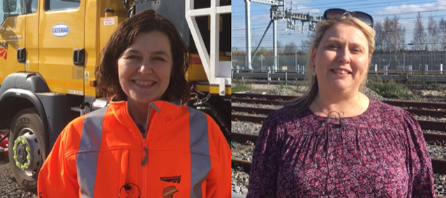 Network Rail celebrates railway mums ahead of Mother's Day: Railway mums Sarah Fraser and Sam Patterson