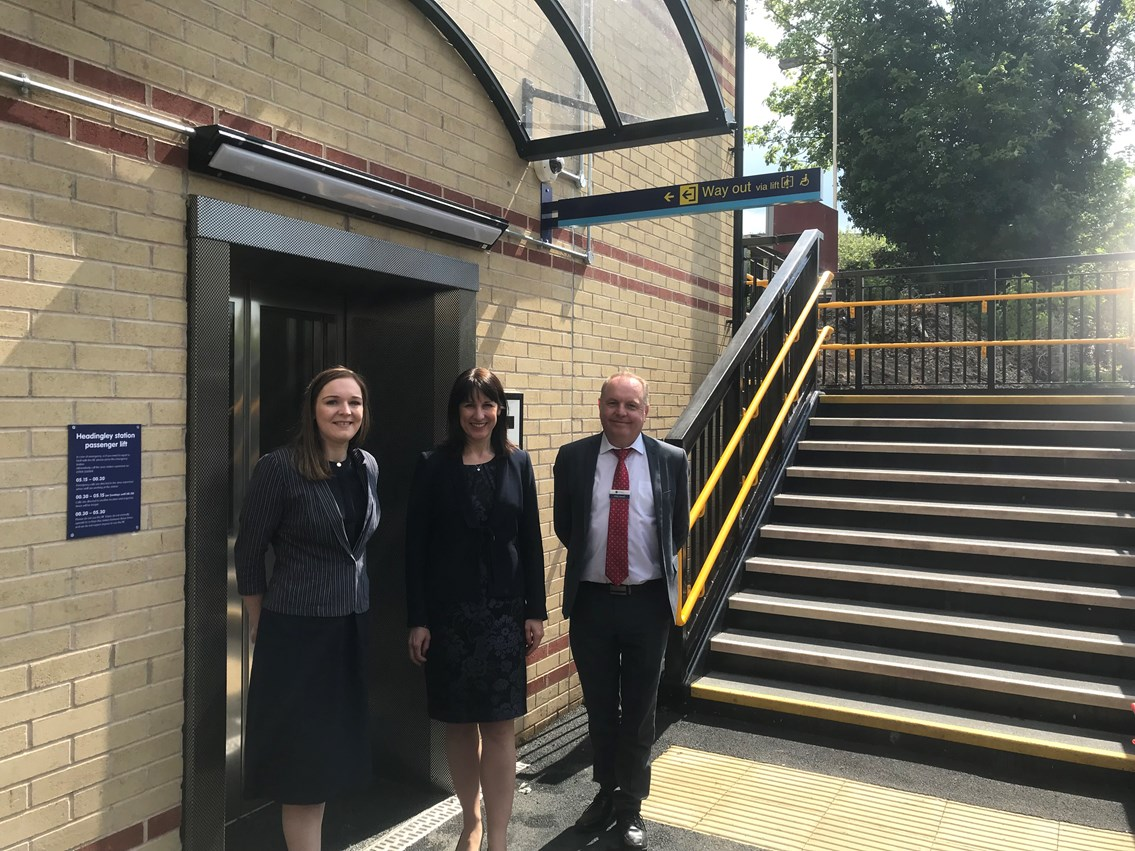 Multi-million pound investment means improved access for rail passengers in West Yorkshire: Nicola Butterworth, Network Rail, MP Rachel Reeves, Phil Sheard, Northern Rail