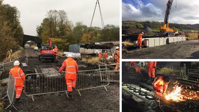 Passengers thanked as Settle to Carlisle line reopens after bridge upgrades: Craven bridge renewals composite