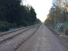 The Settle to Carlisle line which is currently closed as work contiunues