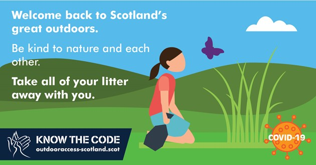 Welcome back to Scotland's great outdoors but be sure to follow the Code: SOAC P3 - Facebook - 8 - July 2020