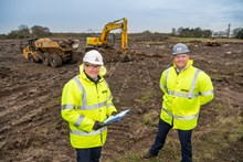 GMI - Director Mike Kershaw and CEO Lee Powell  onsite Goole