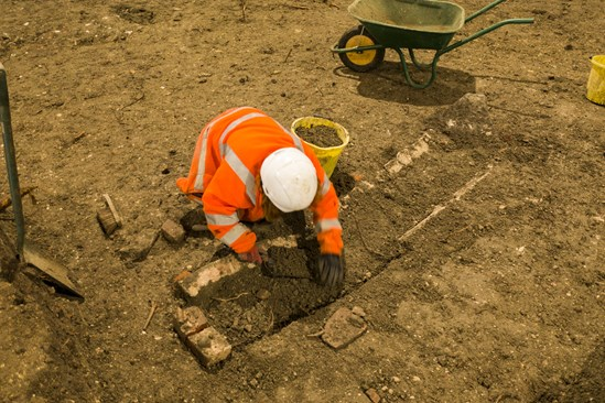 Archaeologists excavate a medieval church and burial ground in Stoke Mandeville: The remains of a medieval church in Stoke Mandeville are being excavated by archaeologists working on the HS2 project.  Tags: Archaeology, St Mary's, Stoke Mandeville