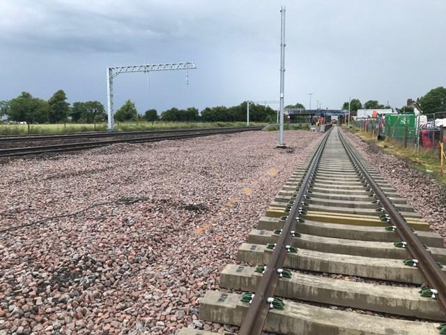Track improvements between York and Church Fenton