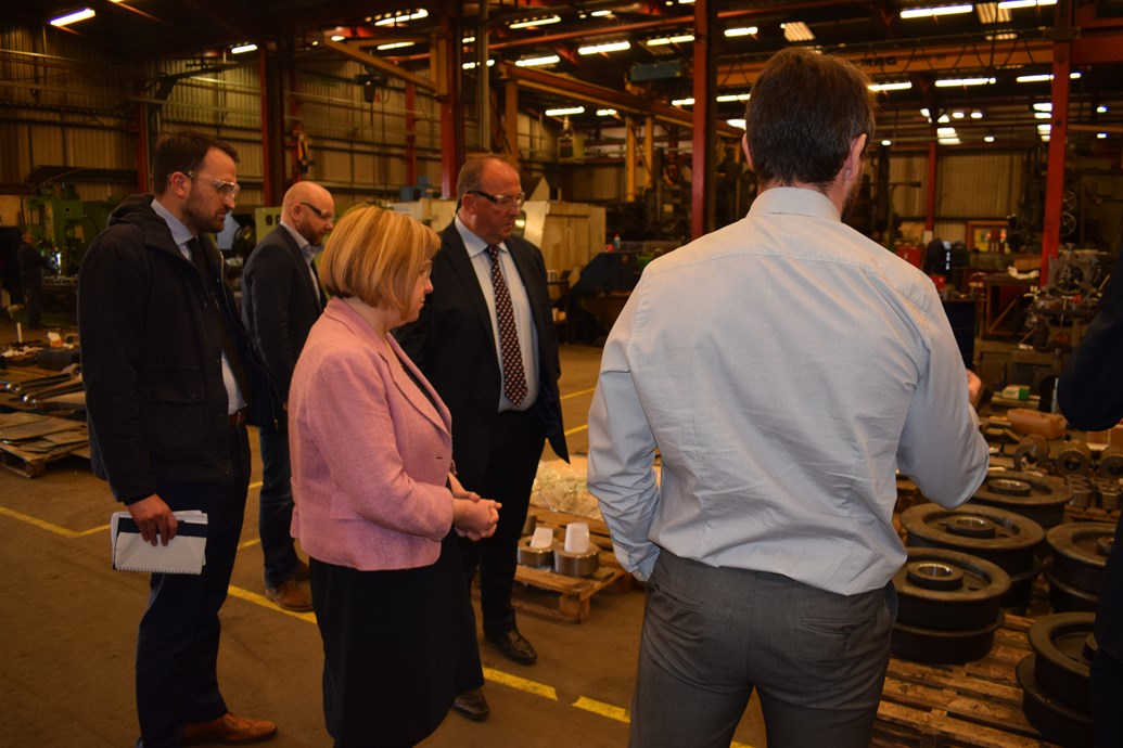South Wales Valleys community is rail industry hub: Lynne Neagle takes a tour of G.O.S (3)