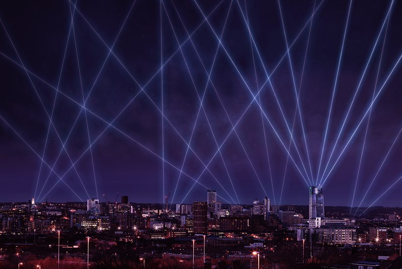 Light Night goes to new heights to give Leeds a ray of hope: LASERL~1