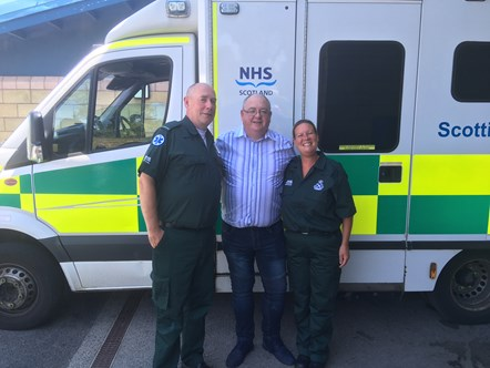 Man reunited with crew who saved his life: Chris Hughes