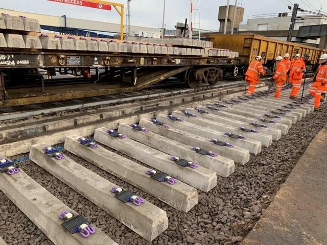 Harwich branch line track renewals 4