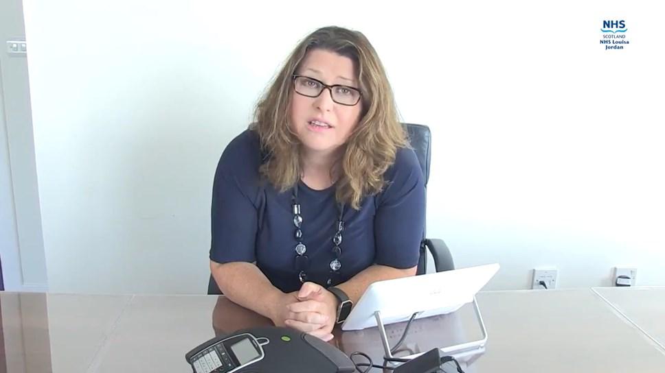 Sandie Scott - Director of Comms Screengrab