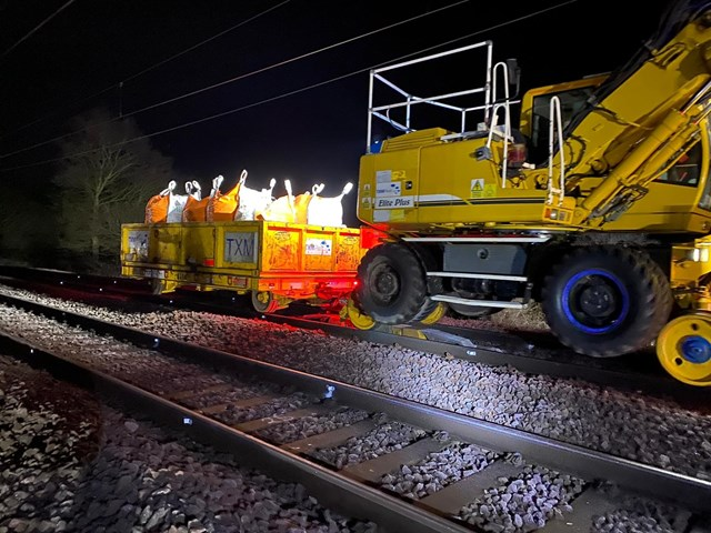 Update: Rail line to reopen on Monday following emergency works at Ingatestone: Ingatestone emergency works 3