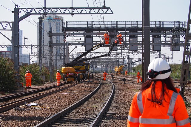Passengers urged to check before they travel as Anglia's rail network set for further upgrades next month: Stratford Easter works-2