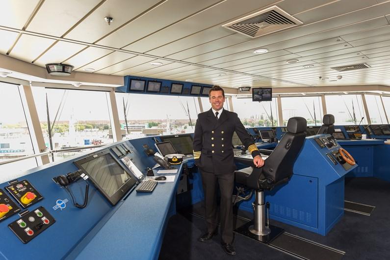 Saga Cruises' Captain Kim Tanner on Spirit of Adventure's Bridge-2
