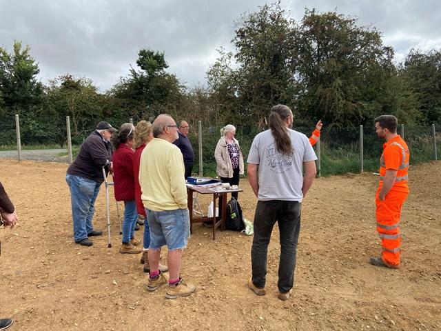 Residents visiting Finedon habitat site