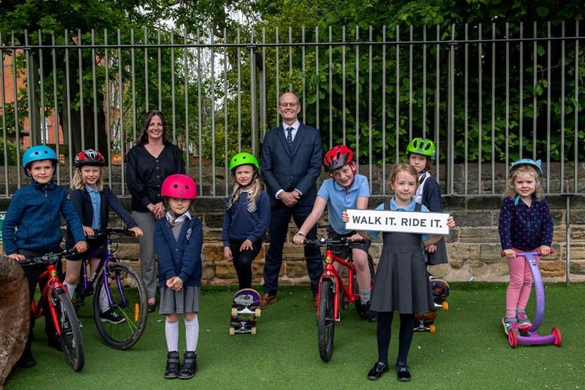 New campaign Walk it Ride it launches to boost healthier, greener travel across Leeds: Walk it Ride it Chapel Allerton school