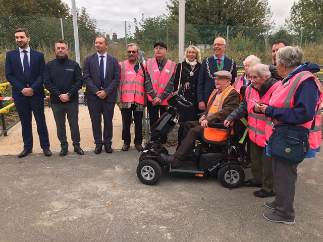 New ramp means easier access for passengers at Dorchester West station and new direct route to Dorset hospital: Dorchester Accessibility Ramp (4)