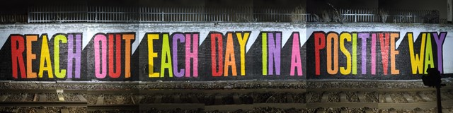 Rail passengers encouraged to 'reach out each day in a positive way' with new artwork: Pedley Street Mural