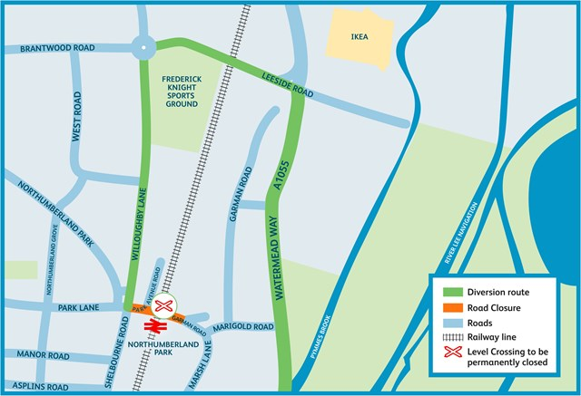Northumberland Park diversion map