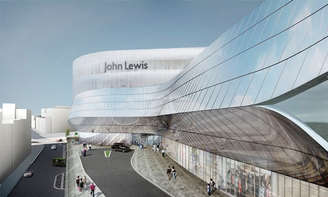 Opening dates revealed for Birmingham New Street station and Grand Central: John Lewis Bullring link bridge view