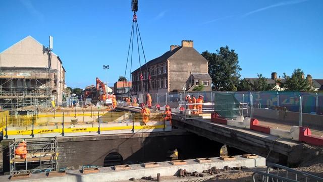Splott Road bridge in Cardiff to close in February for second phase of railway upgrade work: Splott Road Bridge demolition 270817 2