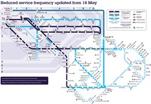 Reduced service map - 18 May 2020