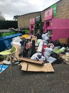 Fly-tipping Asda Carterton